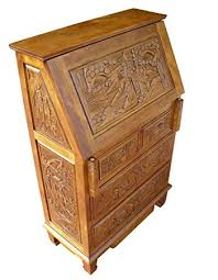 bureau writing desk furniture handcarved writing bureau writing