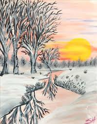 winter sun saturday december 2 2017 painting with a twist