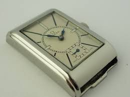 omega art deco design wristwatch 1935