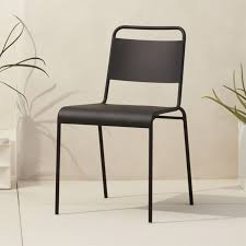 Armchair Outdoor Lucinda Black Stacking Chair Cb2