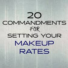 Makeup Contracts For Weddings 20 Commandments For Setting Your Makeup Rates U2014 Glossible