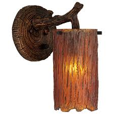 rustic wall lights rustic cottage double wall light like candle
