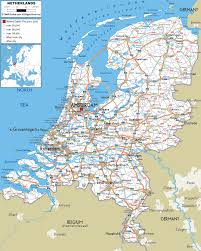 Idot Road Conditions Map Road Map Of Netherlands And Within Roundtripticket Me