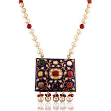multi coloured necklace images Multi coloured gemstone jadau necklace by india jewels in 10kt jpg