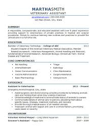 Kennel Assistant Resume Veterinary Resume Resume Templates