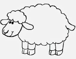 lamb print coloring pages print baby siting
