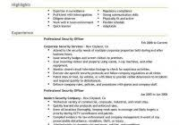 resume format canada security officer cover letter sample job and