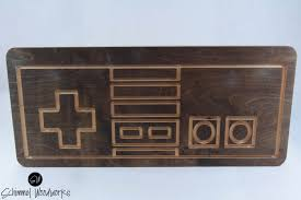 retro nintendo controller wall art old game room for