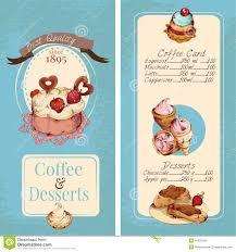 Bakery Price List Template Desserts Menu Template Stock Vector Image 41976198