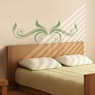 Headboard Wall Sticker by Headboard Wall Decals Bedrooms Wall Decals Decalmywall Com