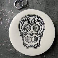 ceramic skeleton ring holder images Best sugar skull plates products on wanelo jpg