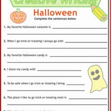 halloween writing activities for kids u2013 fun for christmas