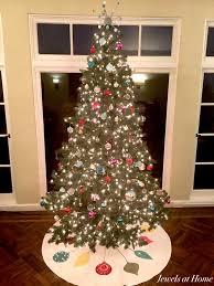 retro mid century ornaments christmas tree skirt jewels at home