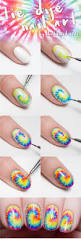 tie dye your tips with this nail art tutorial and sneak peek from