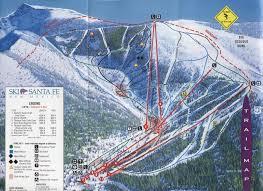 Map Of Santa Fe New Mexico by Ski Santa Fe Skimap Org