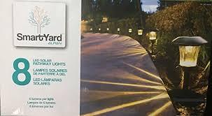 smartyard led string lights smartyard solar led large pathway lights 8 pack amazon ca