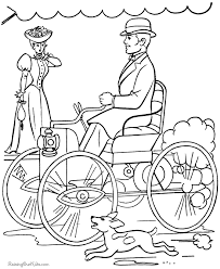 Henry Ford First Car History Kid Coloring Pages Yankee Doodle Yankee Doodle Coloring Page 2