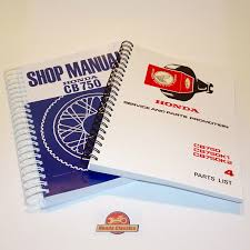 honda factory workshop shop manual parts list book cb750