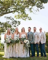 a natural wedding on a small new york island martha stewart weddings