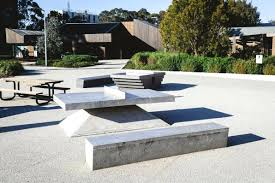 ping pong table cost concrete ping pong table billed as sculptural outdoor concrete table