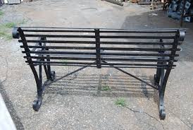 Old Metal Outdoor Furniture by Vintage Metal Garden Bench At 1stdibs