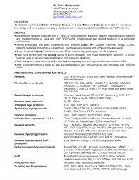 sle network engineer resume network engineer resume objective sle exles free pdf