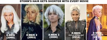 storm u0027s hair gets shorter with every movie marvel