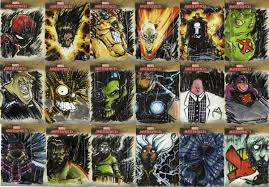 marvel masterpiece sketch cards from 2008