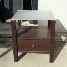 find more frosted glass top 1 drawer nightstand or end table for