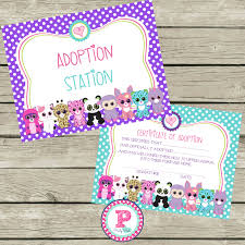 pet adoption certificate adopt a pet birthday party ideas