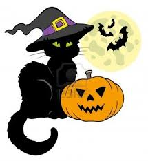 cartoon halloween picture cute black and white halloween cat clipart collection