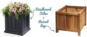 Planter With Legs by Square Beadboard Garden Planter Blog Homeandawaywithlisa