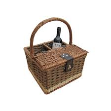 wine picnic basket buy hambledon wicker picnic basket wine carrier the basket company
