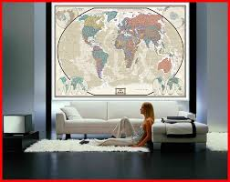 swiftmaps world modern day antique wall map mural 76x120 76x120 world executive wall mural on wall