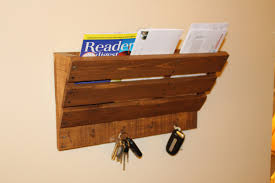 Mail And Key Holder Key Holder Magazine Rack Rustic Magazine Holder And Key Hook