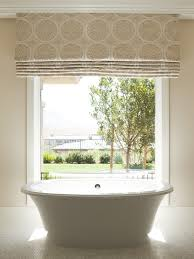 Bathroom Bay Window Las Vegas Bay Window Roman Shades Bathroom Modern With View