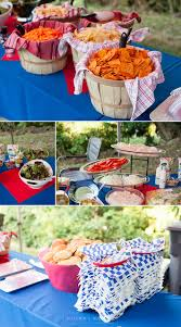 a red white and blue backyard wedding puyallup