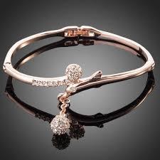 bracelet gold bangle images Rose gold bangle rose gold plated austrian crystal cubic zirconia jpg