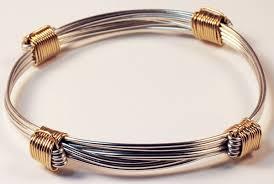 knot bracelet silver images Silver bracelet with 4 gold knots safari gold jpg