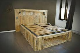 Bed Frame Made From Pallets Pallet Beds And Bed Frames Ideas