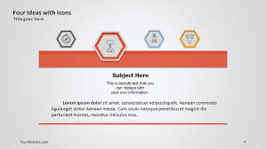 powerpoint templates free download ocean four ideas with icons ppt diagram slide ocean