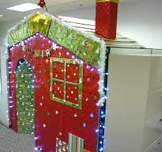 Office Decorating Themes - christmas door decorating themes for office christmas cubicle