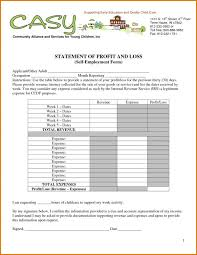 free profit and loss statement template for self employed profit