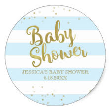 baby shower boy gold foil boy baby shower gifts on zazzle