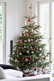 scandinavian christmas trees for your holiday living room decor