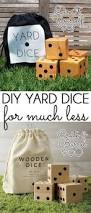 diy with style summer fun with diy wooden yard dice summer fun