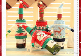 christmas sets top quality christmas wine bottle sets cover christmas hat and