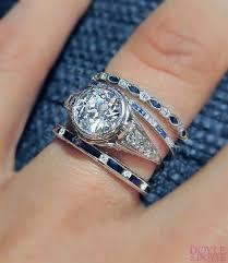 sapphire diamond ring band wedding promise diamond engagement