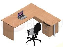 bureau retour bureau kamos plateau droit avec retour