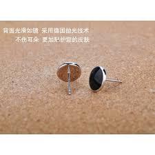 s mens earrings 2017 hot sell fashion black men s earrings 925 sterling silver men